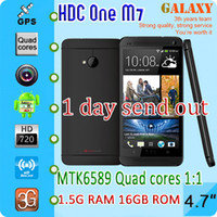 Wholesale New Arrive HDC One M7 phone MTK6589 Quad cores GHz GB Ram GB Rom quot resolution IPS Full view