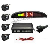 Wholesale Gift retail packag Sensors Car Parking Assistance System v LED Display Indicator Alarm Car Reversing Sensors Free Fedex