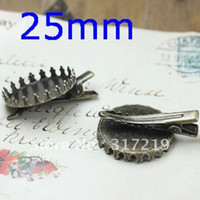 Wholesale 100PCS Inner mm Vintage Crown Antique Bronze Brass Brooch Cameo Photo Frame Fashion Brooches Pins