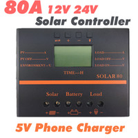 Wholesale Solar80 A Solar Charge Controller V V auto switch Light and timer control W solar panel