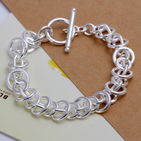 Brass,Copper 925 sterling silver bracelet - 21x1 cm high grade pieces silver Bracelet ZSSB fashion sterling silver Chain bracelet jewelry