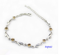 Wholesale Small Leaf Anklet Tiny Czech Diamond Anklets Foot Bracelets Silver Anklet A004