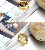 Wholesale 5PCS South Korea s new fashion accessories tungsten jewelry is the Lord of the rings gold
