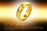 Wholesale 20PCS South Korea s new fashion accessories tungsten jewelry is the Lord of the rings gold