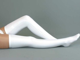 Wholesale New Lycra zentai spandex sexy White black stockings The lowest price