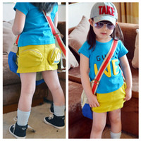 Summer A-Line Above Knee/Mini Girl's Sports Skirts 2013-4 new 3-4Y Girl Tutu Girl's Skirts 10 Letters Stereoscopic Big Pockets Leisure Sports Skirts Baby's Skirts Dresses
