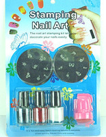 Wholesale Nail printing tools painted steel sheet template printing nail polish random scraper seal factory di