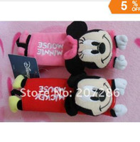 Wholesale pair lot2011 Newest Car cute safe belt cover Oxytropis sets belt sheath piece suit Mickey amp Minnie Mouse