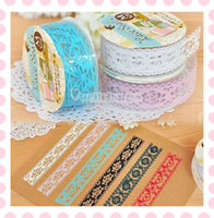 Wholesale Hollow Decorative Sticker DIY Diary Transparent Adhesive Lace Tape Stationery