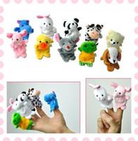 Wholesale Velvet Animal Finger Puppets Cartoon Plush Toys Baby Child Favor RPG Toys set