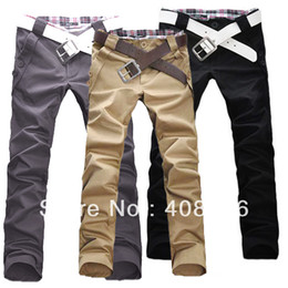 Wholesale Fashion Men s Stylish Designed Straight Slim Fit Trousers Casual Long Pants Four Size M L XL XXL