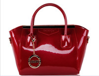 Plain red patent leather handbag - Women s Handbags Shoulder Bag Shiny Patent Leather Elegant Fashion Handbags Messenger Bags Piece