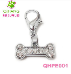 Wholesale new crystal clear rhinestone dog pet collar pendant chaims in crown bone heart paw dog shape