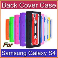 Plastic cassette case - DHL Retro Classic Tape Cassette Silicone Rubber Case Back Cover for Samsung Galaxy S4 I9500