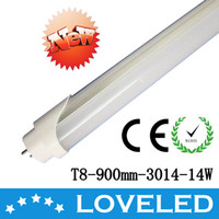 T8 14W SMD3014 T8 LED Fluorescent Tube Light Lamp 14W 3 Feet 900mm Warm White 85-265V CE RoHS Approved