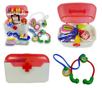 Wholesale Retai pieces Doctor Nurse Medical Educational Carry Kit Simulate Kid Children Toy Pretend Role Play Large Package Non Toxic