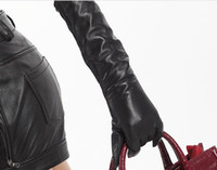 Wholesale hot sales New Ladies same styles of Italian long Leather Gloves soft Lambskin g