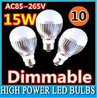 15W led light ball - 10pcs no dimmable Dimmable Bubble Ball Bulb AC85 V W E14 E27 B22 GU10 High power Globe light LED Light