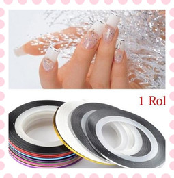 Wholesale 10 Colors Fashion Pretty Striping Tape Roll Nail Art Decoration Line Sticker