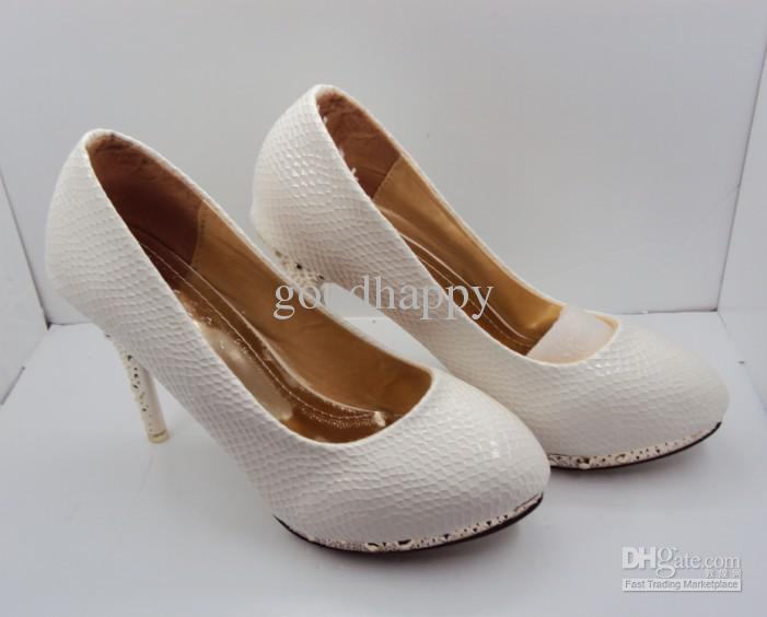 2013 Very hot White Color SHOES Wedding Dress shoe Women's Shoes High