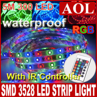 Wholesale High intensity RGB M Waterproof LED flexible led light strip keys Free Remote DC12V