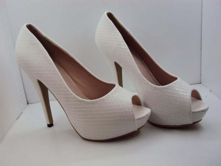 White Wedding Dress Colored Shoes