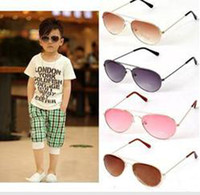 Wholesale Fashion Children Flying Sunglasses New Metal colourful Sun Glasses for kids