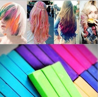 Chalk Temporary  European and American hair coloring pens the soft hair dye pen crayons hair stick hair color chalk 12 colors