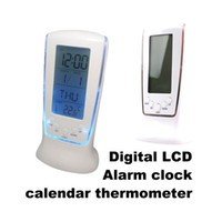 Wholesale 120 New Digital LCD Alarm LED clock calendar thermometer