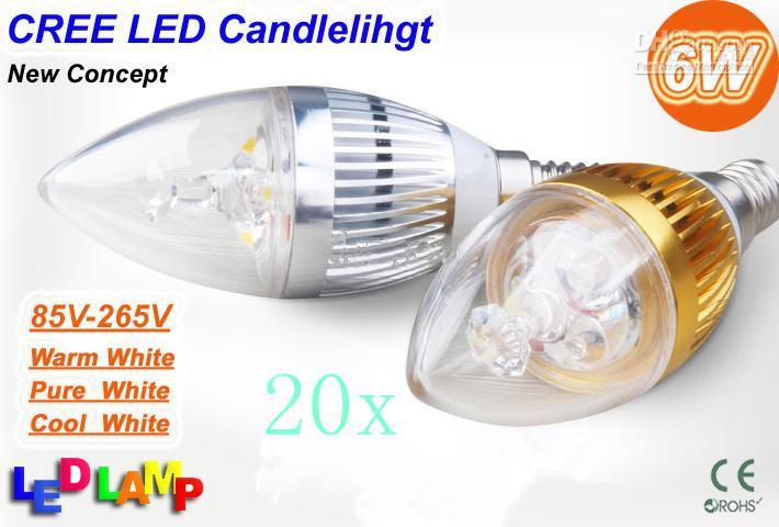 Buy Led Candle Light E14 E27 9W super bright White LED Bulb Spot 3*3W