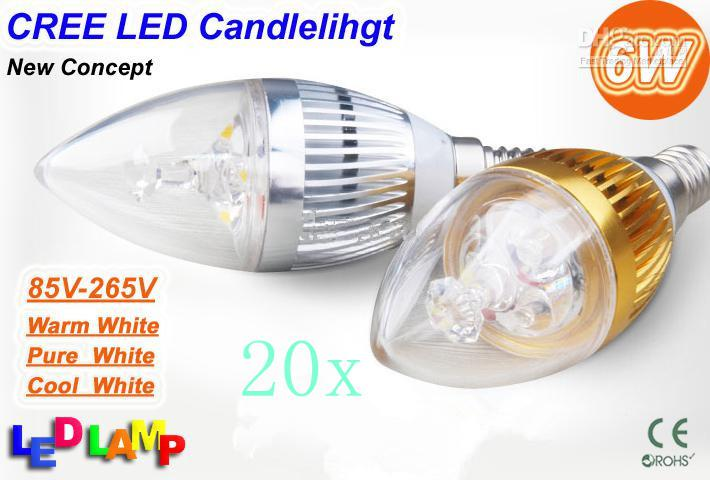 Led Candle Light E14 E27 9W super brillant LED blanc Bougie Lumière Spot Light 3