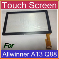 Wholesale DHL OEM Front Touch Screen Glass Digitizer Replacement For Q88 Allwinner A13 quot Tablet PC