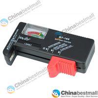 Wholesale BT Battery Tester Universal Handheld battery Volt checker tester AA C D V V Button Black
