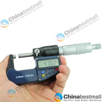 Wholesale 0 mm quot mm quot LCD Electronic Digital Micrometer Measuring amp Gauging Tools