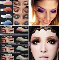 Wholesale 10 boxes colors box pairs Fashion Instant Eyeshadow Magic Eye Sticker Tattoos Eye Migic