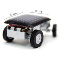 Wholesale Big Discount Sale The World s Smallest Car Solar Powered Educational Toy car New Mini Children Solar