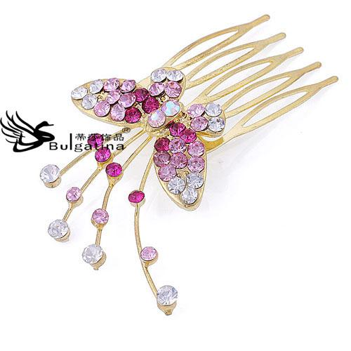 2017 decorative hair pins with shining crystal colorful