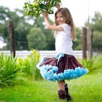 Halloween aqua clothing dresses - Girls clothes brown with aqua girls pettiskirts girls mini skirts toddler girls petticoat dresses kids short skirts