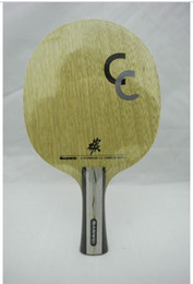 Wholesale New Arrival Sanwei plywood carbon layers Table Tennis Blade table tennis racket CC Free half cover top sale