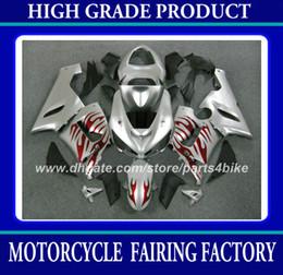 Custom race fairing for Kawasaki Ninja ZX-6R 2005 2006 ZX 6R 05 06 ZX6R 2005 2006 fairings body kit hot sale red silver bodywork set RX2x