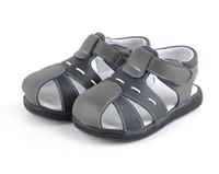 Wholesale Summer leather sandles toddler sandles baby soft sandles boy sandles