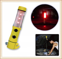 Wholesale 4in1 Car Auto Escape Safety Hand tool Emergency Hammer Belt Cutter LED Beacon Flashlight