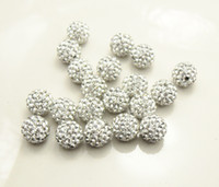 Wholesale DIY hot sell mm Rhinestone Pave Disco ball Shamballa Crystal beads CPAM free piece