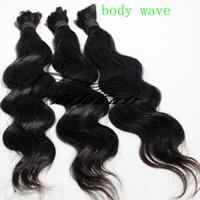 Wholesale 14 quot quot quot quot quot quot quot quot brazil hair body wave braid b virgin human hair braiding hair bulk extensions no weft without attachment