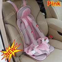 Sitting children car booster seat - Newest Baby Child Kid Toddler Infant Children Auto Car Travel Safety Secure Booster Seat Cover Harness Cushion Belt Case Pad Mat Pink