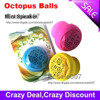 Wholesale Best Serving Octopus Balls Portable Mini Stereo Loud Speaker Car Subwoofers for iPhone S4