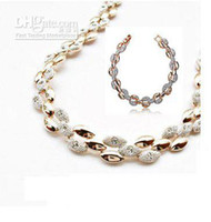 Wholesale holiday sale s Christmas K Gold Plated rhinestone austrian Crystal Jewelry Sets fash