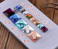Wholesale DIY shiny mm colorful crystal square rhinestone beads for cellphone mobile cases scrapbook jewelry decorations nail art gift craft tools