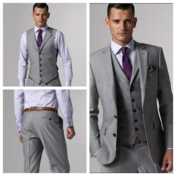 Light Grey Men's Formal Occasions Clothes Tuxedos Suit Ok:228 Mens