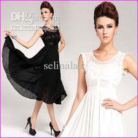 Christmas Tea Length Round HOT SALE Lace chiffon maxi dress, brand new dress women boho summer dress 2013 hight street dresses